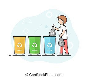 Concept Of Zero Waste, Recycling Technology And Save Planet...