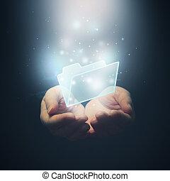 concept., ognisko., selekcyjny, rząd, siła robocza, ściąganie, dokument, otwarty, folder.