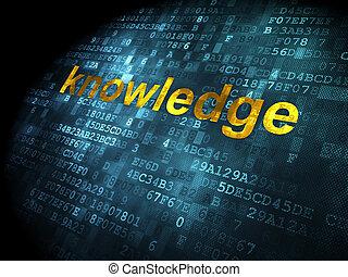 concept:, oktatás, tudás, háttér, digitális