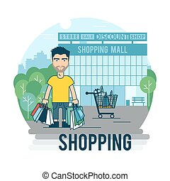 Concept on the subject of shopping.