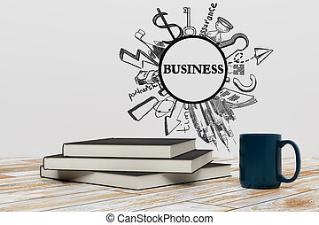 concept, opleiding, bewindvoering