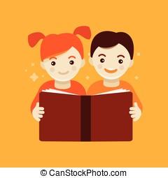concept, opleiding, kinderen