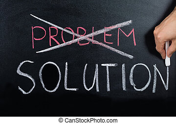 concept, oplossing, kruising, bevinding, probleem, uit