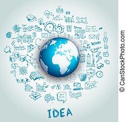 concept, opmaak, idee, infographic, brainstorming, ...