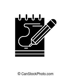 concept, opmerkingen, vrijstaand, illustratie, meldingsbord, achtergrond., vector, black , pictogram, dagboek, symbool