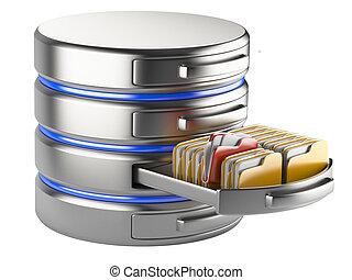 concept, opslag, databank