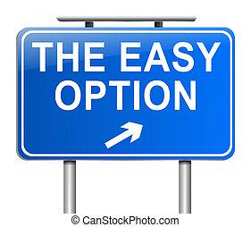 concept., optie, gemakkelijk