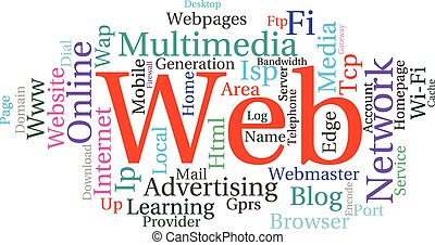 Concept or conceptual abstract word cloud as metaphor for...
