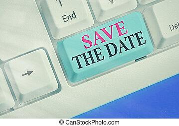 concept, organizers., événement, business, organiser, jour spécial, texte, date., puits, sauver, faire, evénements, mot, écriture