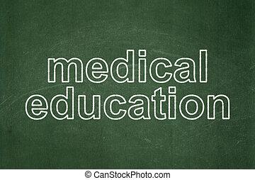 concept:, orvosi tanítás, chalkboard, háttér
