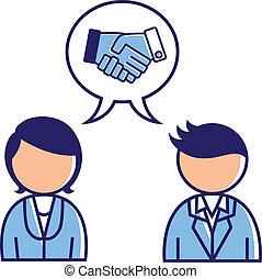 concept, overeenkomst, zakelijk