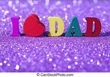 concept, père, jour