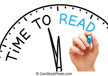 concept, pédagogique, horloge, lire, temps