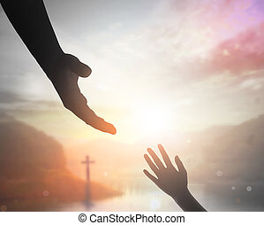 concept, paix, main, portion, concept:, humain, international, jour, solidarité