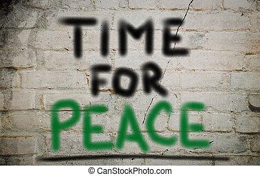 concept, paix, temps
