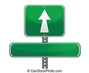 concept, panneaux signalisations