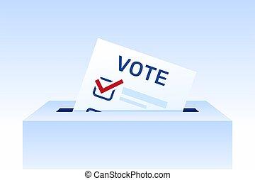 concept, papier, illustration., vote, day., vote, élections, élection