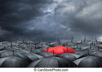 concept, paraplu, rood