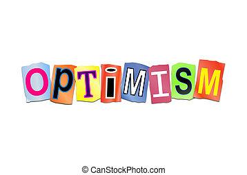 concept., parola, ottimismo