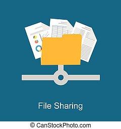 concept., partage, fichier