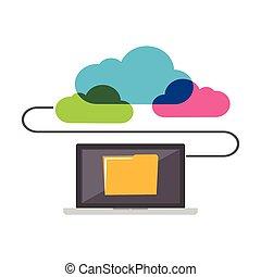 concept., partage, ligne, fichier, storage.