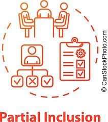 concept, partiel, inclusion, icône