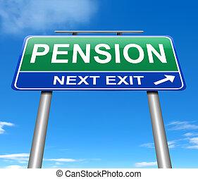 concept., pension