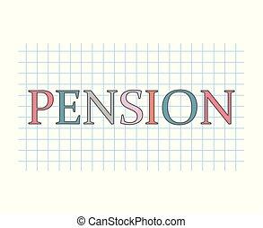 concept, pension