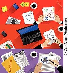 concept, personnel, business, recherche, recrutement, ...
