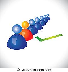 concept, personnel, choix, ouvrier, embauche, droit, employé, ou