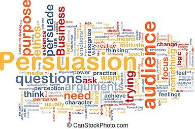 concept, persuasion, fond