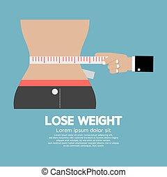 concept., peso, perdere