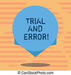 concept, photo, affaires colorent, texte, il, edge., écriture, lear, procès, erreurs, conception, quelque chose, ombre, vide, mot, flotter, essayer, cercle, error., confection