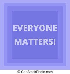 concept, photo, carrée, droit, même, concentrique, bleu, pastel, matters., modèle, point., écriture, texte, a, fonctions, nous, moyens, égale, signification, centre, everyone, écriture