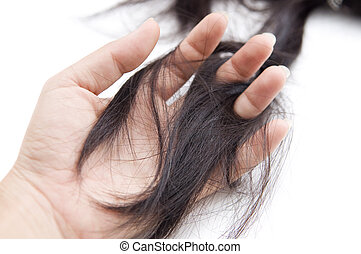 hair loss  - Concept photo for hair loss or cancer