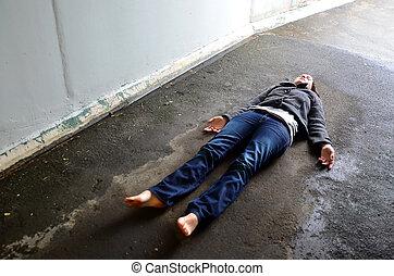 Concept Photo - Murder - Crime scene concept photo of a...