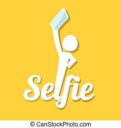 concept, photo, prendre, téléphone, selfie, intelligent,...