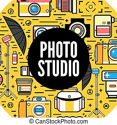 concept, photostudio, photographe, conception, ou, illustration.