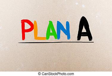 concept, plan