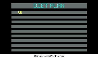 concept, plan, dieet