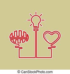 concept, plannen, idee, geboorte, het oplossen, realisatie,...