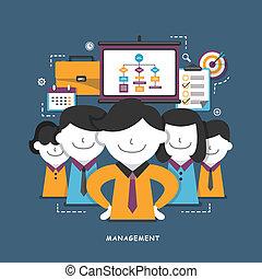 concept, plat, gestion, conception, business