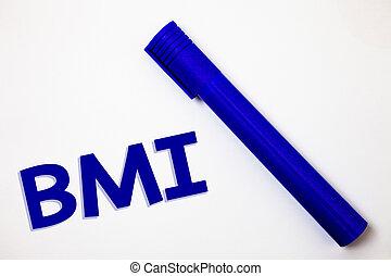 concept, poids, texte, hauteur, respect, marqueur, gamme, bleu, indice, idées, masse, blanc, corps, signification, fond, sentiments, détermine, sain, messages, bmi., intentions., écriture