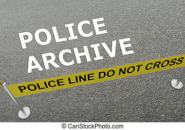 concept, police, archive