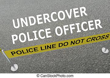 concept, police, secret, officier