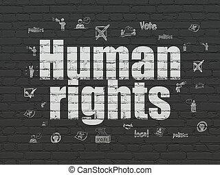 concept:, politiek, achtergrond, mensenrechten, muur