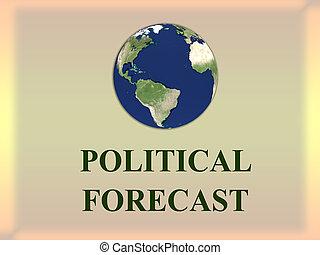 concept, politique, prévision