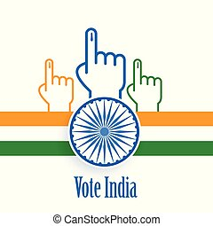 concept, poster, india, ontwerp, verkiezing, stem