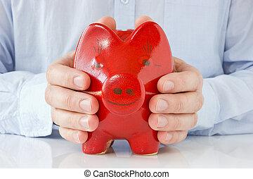 concept, pour, argent, protection