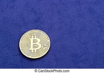 concept, pourpre, crypto, monnaie, arrière-plan., numérique, bitcoin